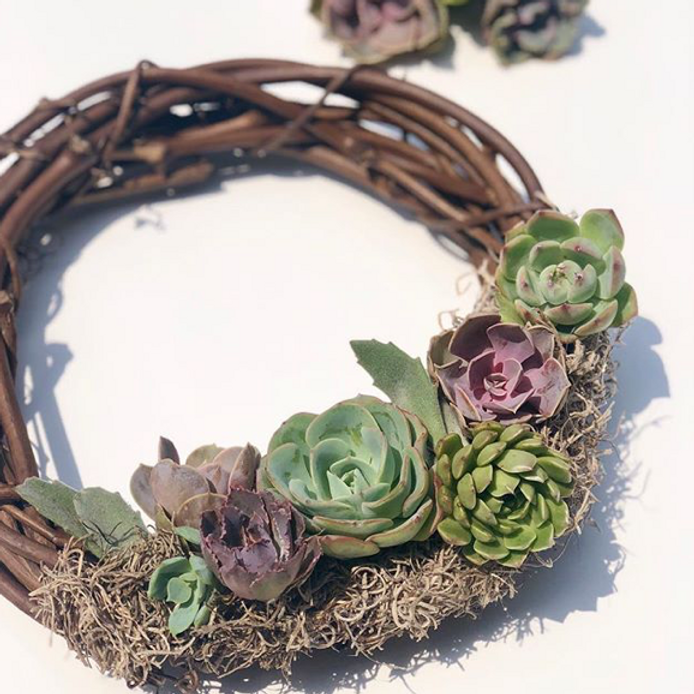 SOLD OUT Mimosas with Mom - Succulent Wreath Workshop