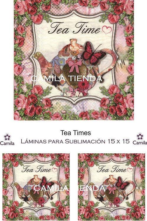 TEA TIMES 15 X 15 SU054