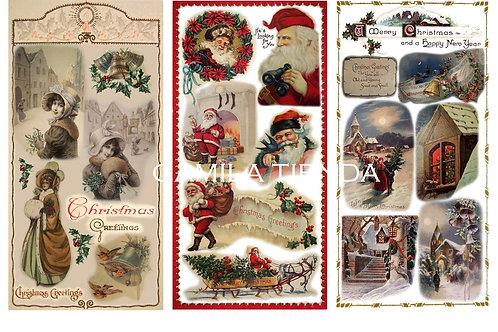 Navidad Vintage 3  A4 cod S170
