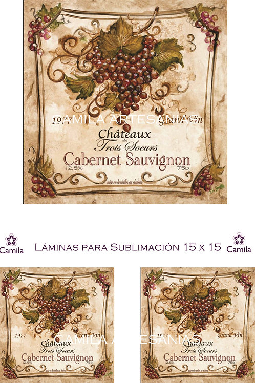 UVAS CABERNET 15 X 15 SU057