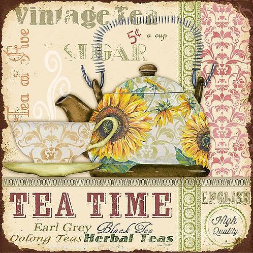 VINTAGE TEA TIMES 15 X 15 SU070