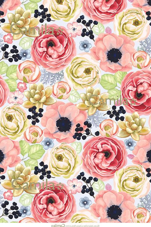 Fondo Flores y Suculentas S3056