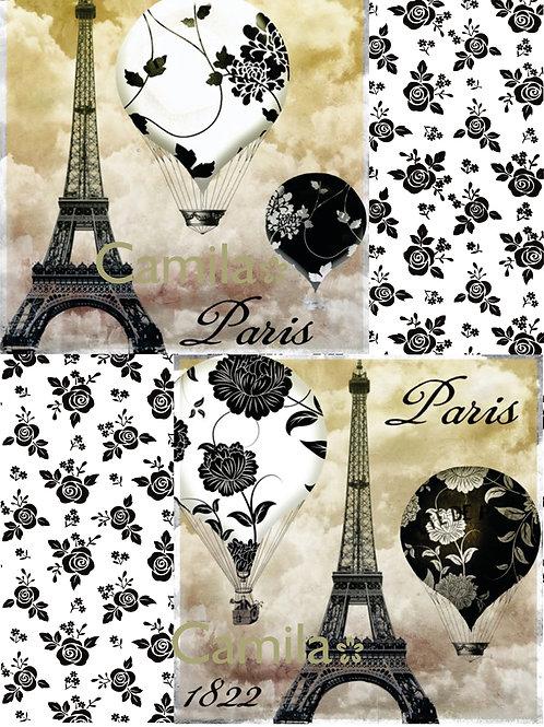 PARIS Y GLOBOS A4 C043
