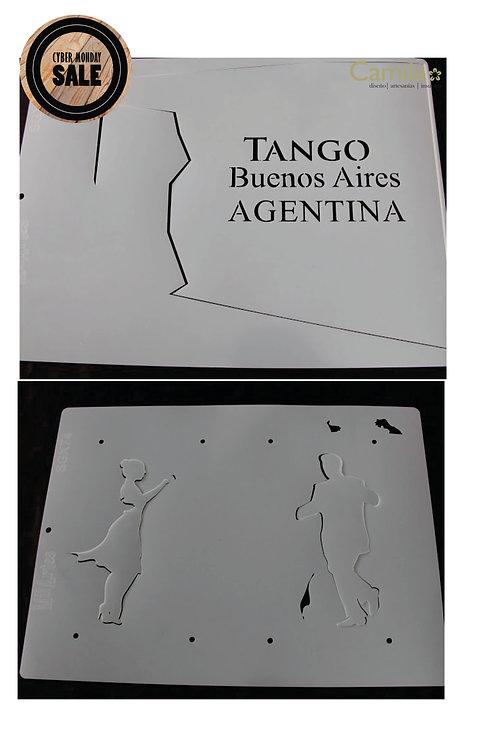 Stencil doble Tango Buenos Aires
