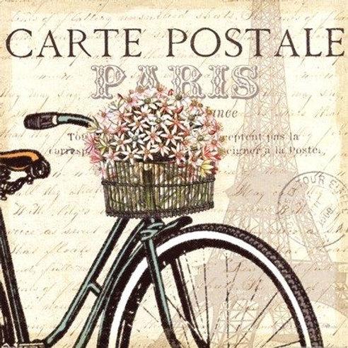 BICI CARTE POSTALE PARIS 15 X 15 SU041
