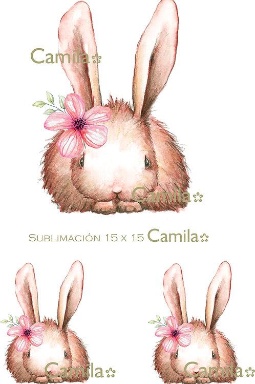 Conejito con Flor Su141