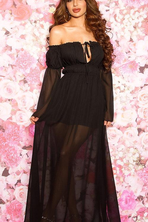 Sexy off-shoulder maxi dress