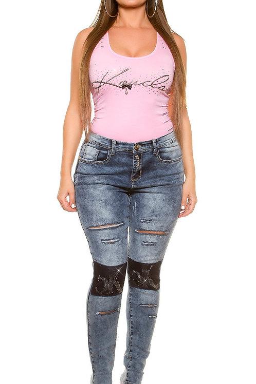 Curvy Girls! KouCla Jeans Used Look rhinestones