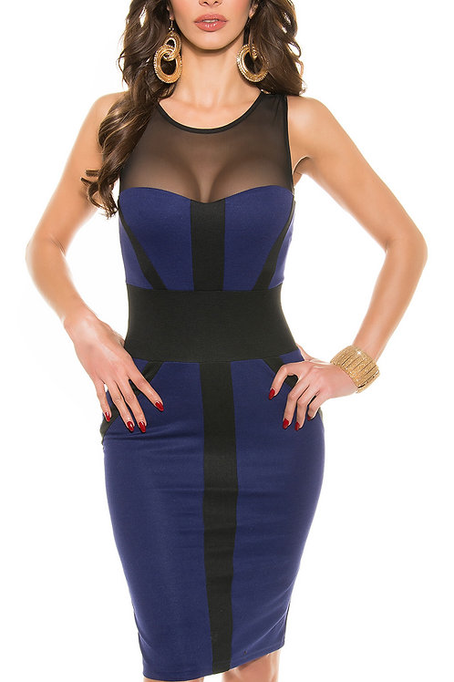 Sexy midi party dress with zip