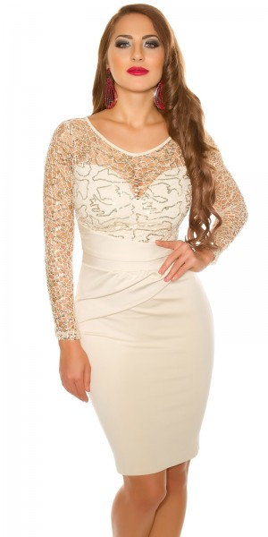 Sexy KouCla partydress with with lace and sequins