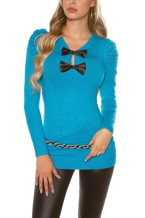 Sexy KouCla longsweater with puff-sleeves