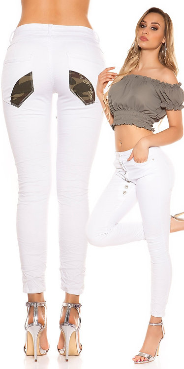 Sexy low crotch jeans buttoned