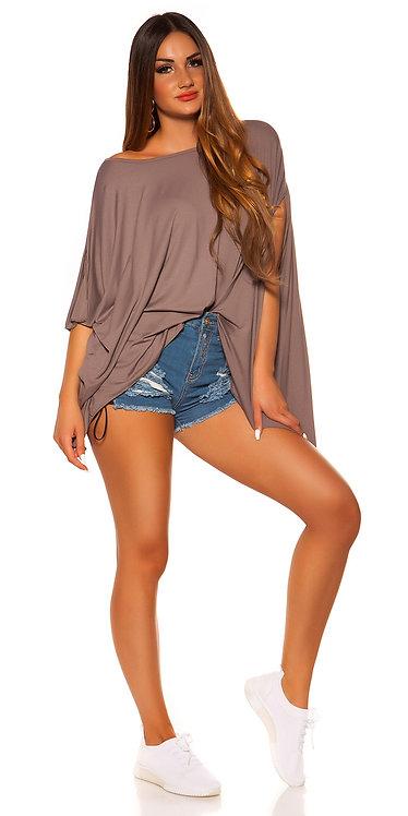 Trendy XXL asymetric summer shirt