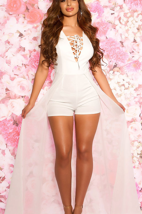 Sexy playsuit with chiffon