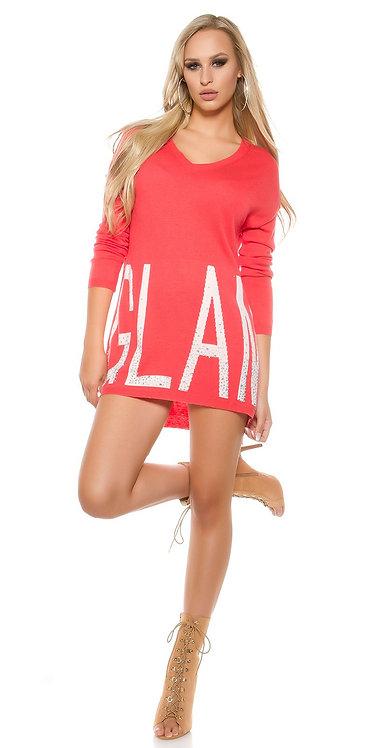 """Trendy KouCla oversized v-sweater """"GLAM"""""""