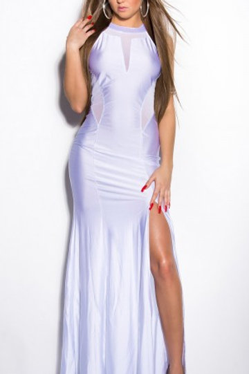 Sexy net dress with transparent cut-outs
