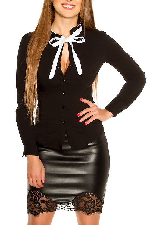 Sexy blouse with bow to tie up