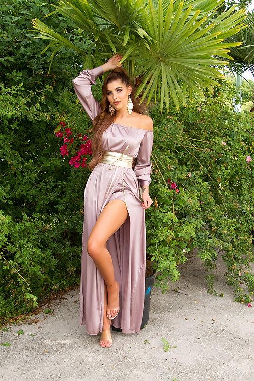 Sexy Koucla Satin-Look maxidress