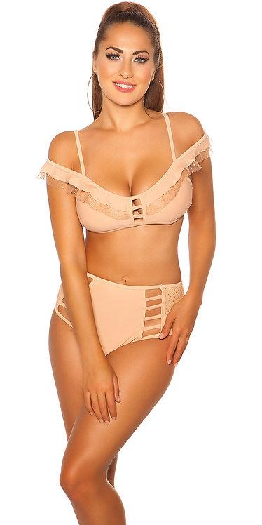 Sexy bikini with highwaist pants and removable pads