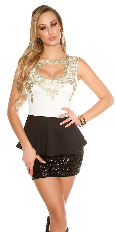 Sexy Koucla top with peplum and lace