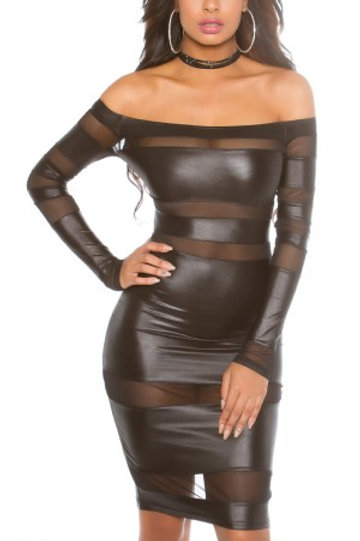 Sexy KouCla party minidress with mesh in JLo look