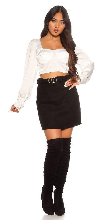 Trendy Business Highwaist Winter Skirt With Belt