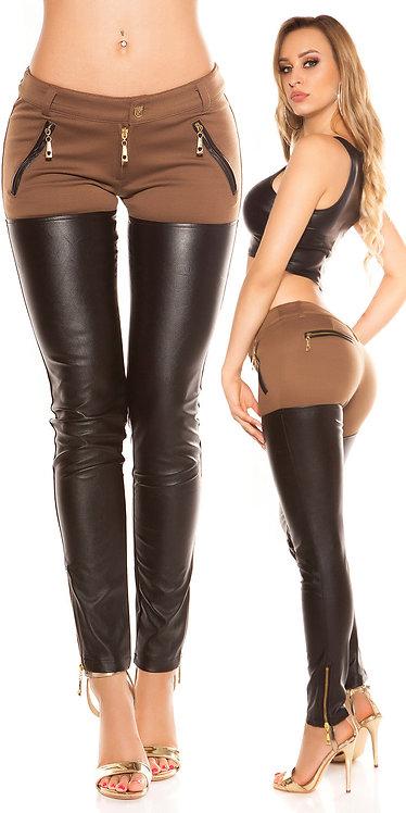 Sexy KouCla Skinny pants half in leatherlook