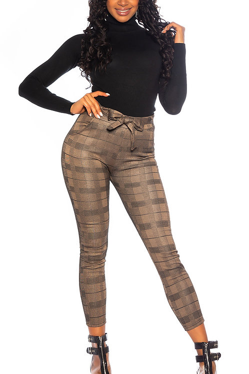 Sexy highwaist thermo pants with belt