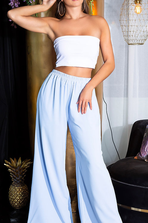 Sexy wide leg summer pants with pockets