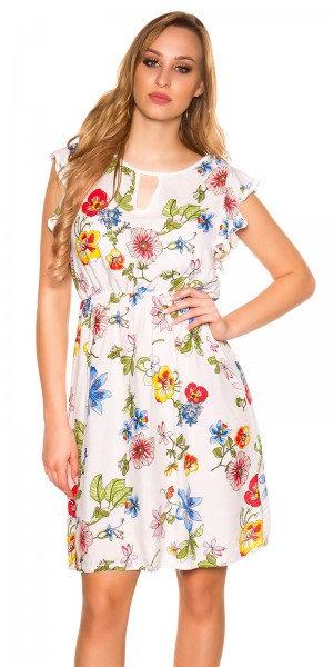 Sexy summerdress with flowerprint