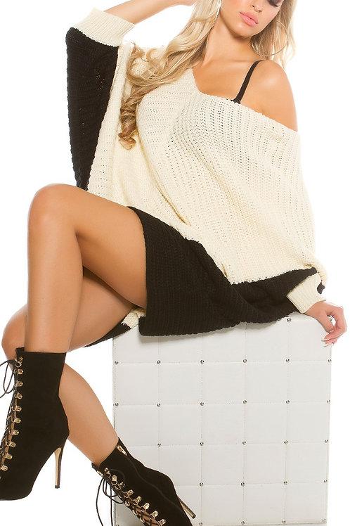 Trendy KouCla bat sleeve Oversize sweater