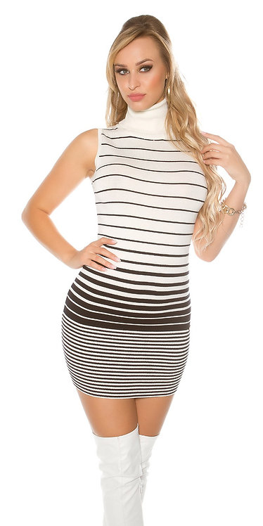 Sexy KouCla turtleneck knit dress backfree