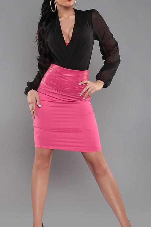 Sexy KouCla Highwaist Pencilskirt in leatherlook