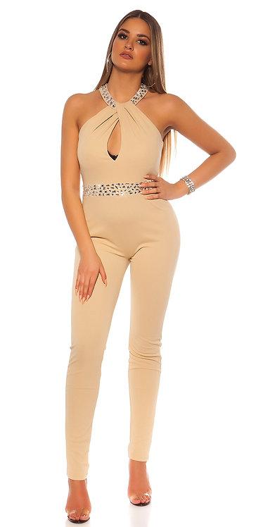Sexy KouCla jumpsuit with refined neckline