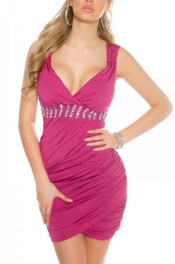 Sexy KouCla coctaildress with rhinestones and pearls