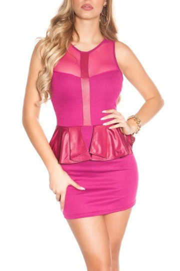 Sexy KouCla minidress with peplum