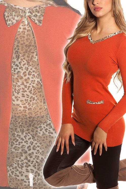 Sexy KouCla longsweater with leo applications
