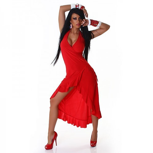 Sexy latino dress, salsa dress in high-low style