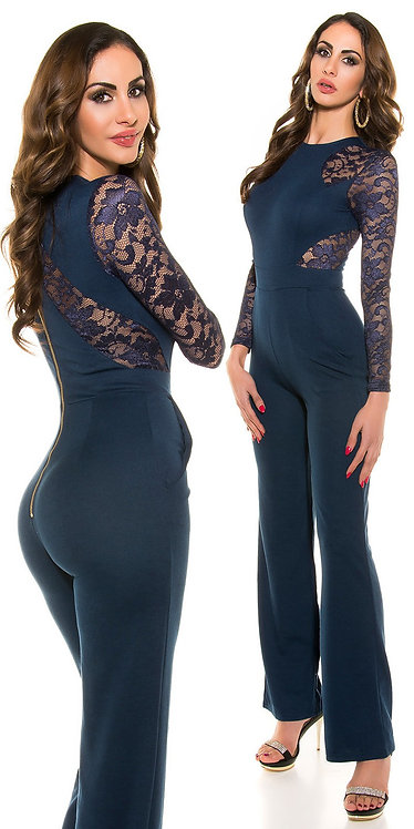 Sexy Koucla long sleeve overall with lace