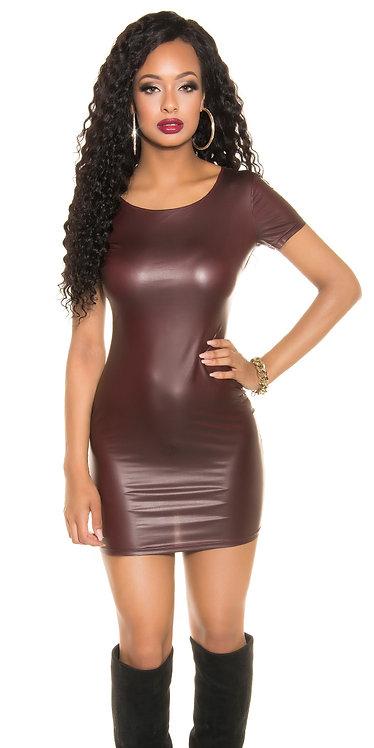 Sexy Koucla wetlook minidress with 2way zip