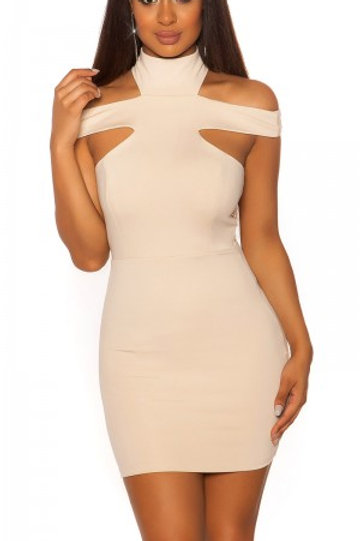 Sexy minidress with collars and cut outs