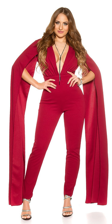 Sexy KouCla V-Cut Jumpsuit with XL sleeves