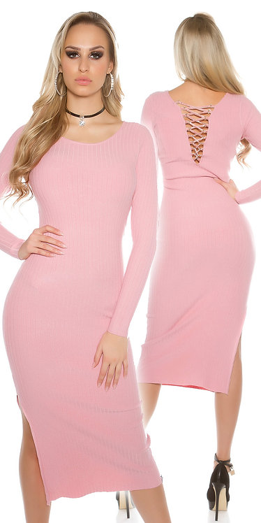 Sexy knitted maxi dress with exraordinary back