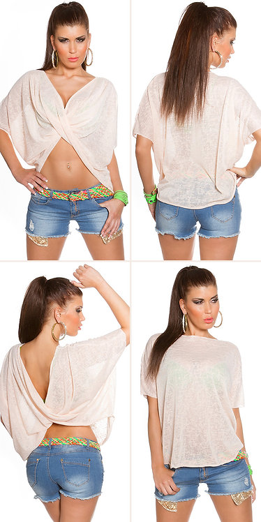 Sexy wrap shirt in 2way style it's up 2u