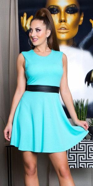 Sexy minidress with leatherlook belt