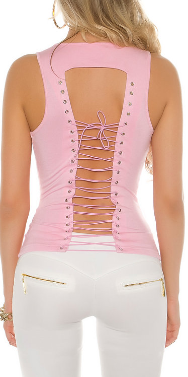 Sexy Koucla top with lacing on back