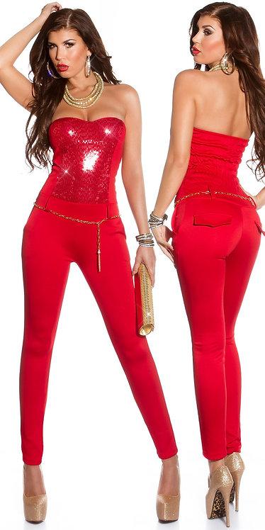 """Sexy KouCla """"Let s Party"""" sequin bandeau jumpsuit"""