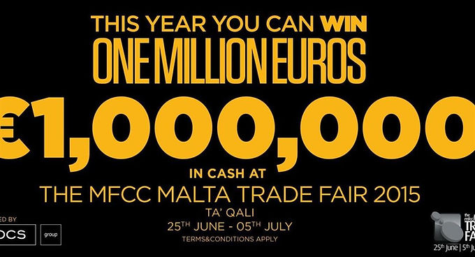 €100000 IN CASH UP FOR GRABS AT THE MFCC MALTA TRADE FAIR 2015 POWERED BY ROCS GROUP