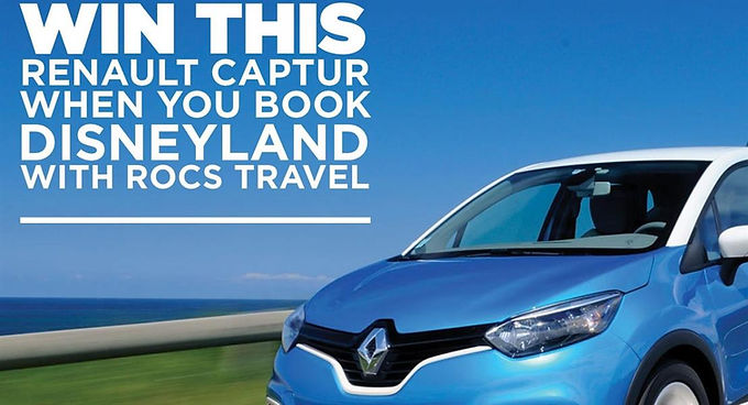 WIN A RENAULT CAPTUR WHEN YOU TRAVEL TO DISNEY WITH ROCS TRAVEL