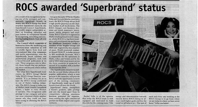 THE ROCS GROUP AWARDED SUPERBRAND STATUS